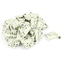 Clipes DealMux 6Pcs trilho DIN 35 mm Bloco de terminais End Stopper Monte