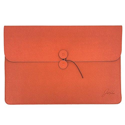 Glüxklee 15-15,6 Zoll Laptop Hülle I Laptop Tasche I Notebooktasche I Schutzhülle Notebook I PC Laptop Schutztasche für MacBook Pro/Dell/Acer/Asus/Fujitsu/Lenovo/HP/Toshiba (Orange)