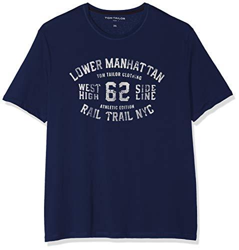 Tom Tailor Casual 1009900 Camiseta Azul (Blue Yonder Depth M 16986) Large para Hombre amazon azul