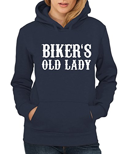 -- Bikers Old Lady -- Girls Kapuzenpullover Navy
