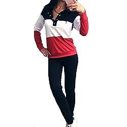 Inlefen Traje de Deporte para Mujer 2 Piezas/Conjuntos Sujetador + Polainas Trajes de Fitness de Elasticidad para Yoga, Correr y Otras Actividades Gray Pink S