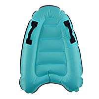SaniMomo Inflatable Surfboard, Thickened PVC Safety Body Board Pool Float for Surfers Swmmers for Adults Teens Kids - Easy to Inflate and Deflate, Easy Storage - Blue