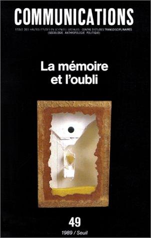 La Mémoire et l'oubli