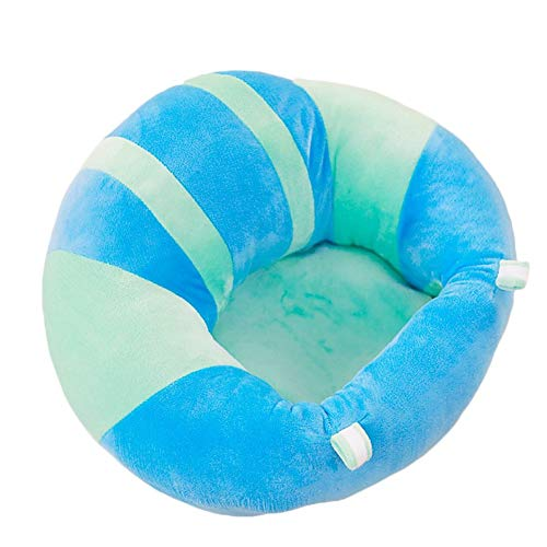 WEIWEITOE-DE Baby Rückenlehne Sitz aus weicher Baumwolle Baby Esszimmerstuhl Kissen Kissen Stillkissen Tier U-förmige Kuschelkindersitz, blau & grün,