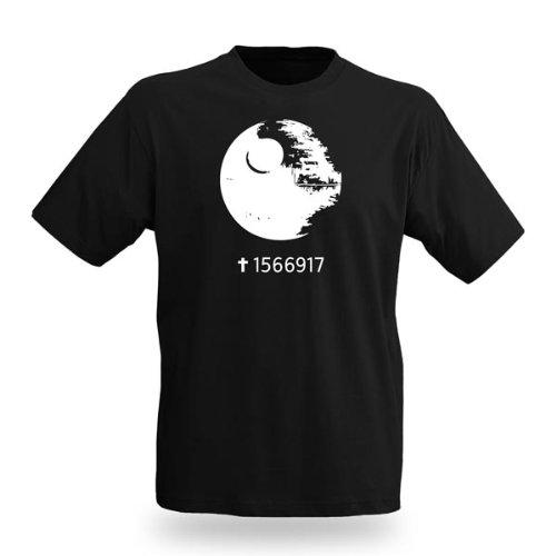 Star Wars Todesstern Fan T-Shirt zur George Lucas Filmreihe Schwarz