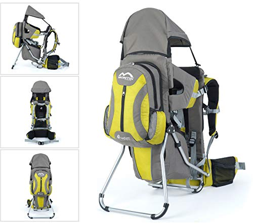 Montis Explore Evolution GRAU Babytragerucksack (Kindertrage Babytrage Tragerucksack Kinder-kraxe Kindertragerucksack Rückentrage Wandertr...