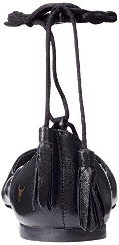Windsor smith Strapp, Ballerines femme Noir (Black Leather)