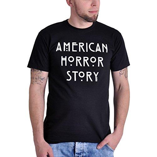 T-shirt American Horror Story logo sur le thème de la série télé coton noir - S