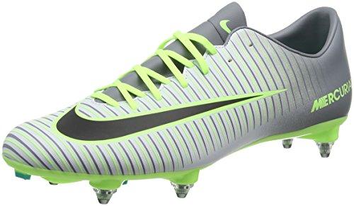 Nike MERCURIAL VICTORY VI SG - Scarpe da ginnastica da Uomo, Colore Argento (pure platinum/black-ghost green), Taglia 44