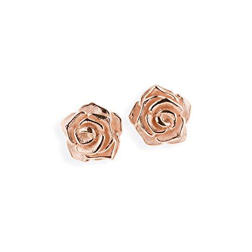 Drachenfels Damen-Ohrstecker Rose of Antoine Silber rotvergodelt - D ROF 21/RG