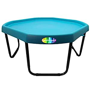 CrazyGadget® Children Kids Tuff Spot with Stand Colour Mixing Tray Large Plastic for Playing Toy Sand Pool Pit Water Game Animal Figures etc. - MADE IN UK (Sky Blue)