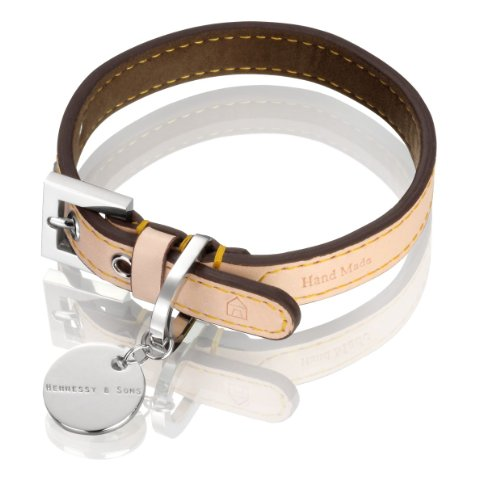 hennessy-sons-hand-made-natural-lv-leather-dog-collar-with-chocolate-brown-lining-18-25-x-14-x-03-cm
