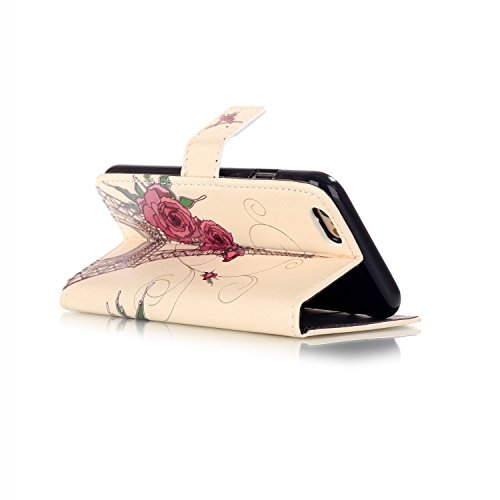 PU Silikon Schutzhülle Handyhülle Painted pc case cover hülle Handy-Fall-Haut Shell Abdeckungen für Smartphone Apple iPhone 6 6S Plus (5.5 Zoll)+Staubstecker (T6) 5