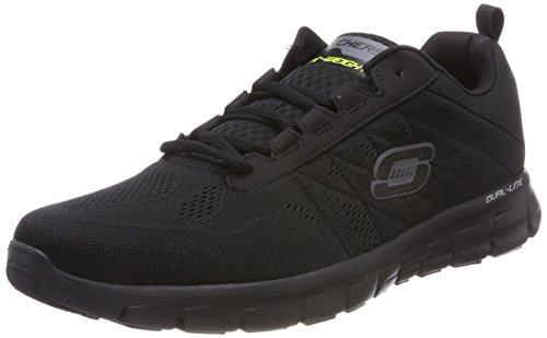 Skechers Herren Synergy Power Switch Low-Top, Schwarz (BBK), 45 EU - Skechers Laufschuhe Mann