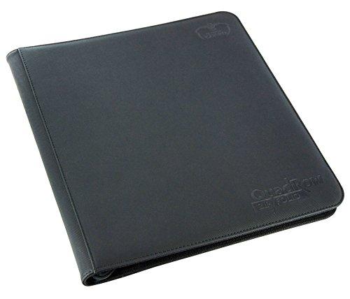 Ultimate Guard UGD010342 - 12-Pocket Quad Row Zip Folio Xeno Skin, schwarz Pocket-zip-design