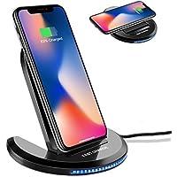 Cargador Inalámbrico Rápido Qi ELEGIANT Estación wirless con Función Qi Cargador Soporte de Carga Indicador LED Inteligente Ángulo Ajustable temperatura baja para Iphone X 8 8P Samsung Galaxy S8 S7