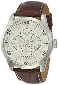 Reloj Metros W95046g1 A Caballero Guess Cuarzo Con Marrón 30 De Piel Sumergible Correa dxthrBsQC