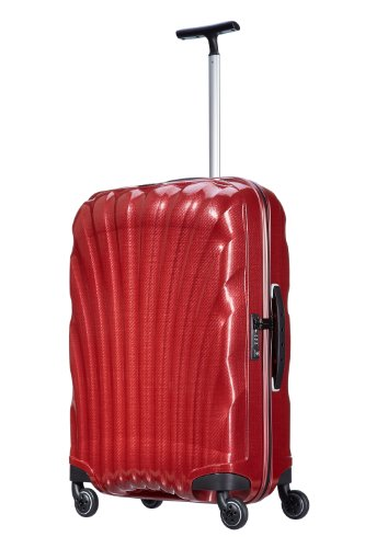 Samsonite, cosmolite, spinner trolley 69 cm 4 ruote, rosso