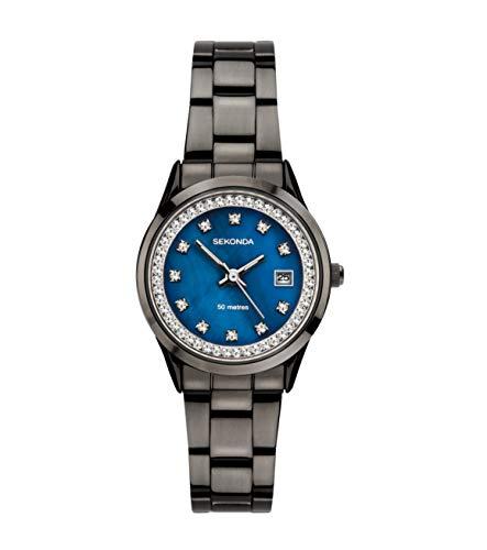 Sekonda 2972 Montre à Quartz analogique pour Femme avec Cadran nacré Bleu