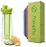 Hydracy Fruit Infuser Water Bottle with unique Insulated No-Sweat Sleeve - 750ml