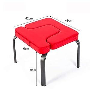 NSC Yoga Chair Umgekehrter Stuhl Home Yoga Seat Fitness Zusatzzubehör,Red