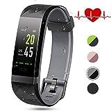 Lintelek Fitness Tracker Fitness Armband mit Pulsmesser Wasserdicht IP68 0,96 Zoll Farbbildschirm Smartwatch Aktivitätstracke