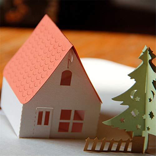 Mitlfuny Weihnachten DIY Home Decor 2019,Details Zu 3D-Pop-Up-Karte Weihnachtsgruß Baby-Geschenk-Feiertag Happy New