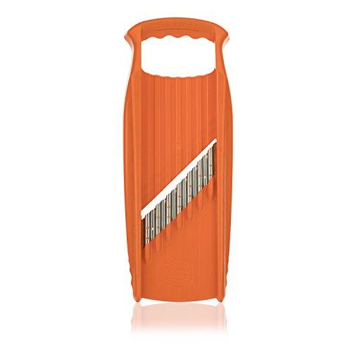 Börner Welle-Waffel XXL PowerLine in orange - Wellenmesser für Gemüse und - Borner Klingen