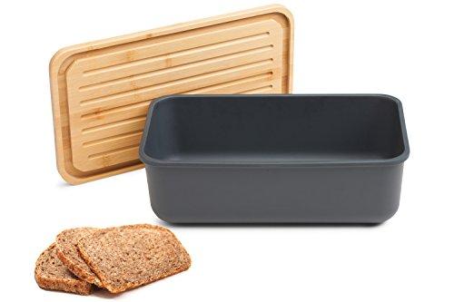 Faircookware Brotkasten aus Bambus - Mit Deckel aus Bambus - 40 x 23 x 13 cm - Brotbehälter - Rechteckig