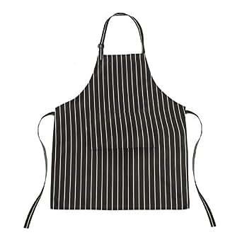 TRIXES Grembiule da Cucina con Tasche - A Righe Bianche e Nere - Fantastico per gli Chef di Tutti i Livelli