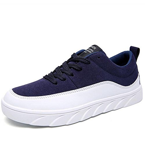 Mr. LQ - Beiläufige Segeltuch-Skateboard-Schuhe der Männer Blue