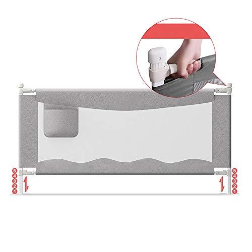Barrières MAHZONG Hauteur réglable 90cm de déflecteur Vertical de lit de lit au Chevet d'enfant de de Levage Verticale (Couleur : Gray, Taille : L-180cm)