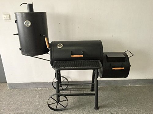 (ABC) Texas���Professional XXL Smoker Mobile Approx. 75�kg Charcoal Approximately 2�mm Steel Professional Quality