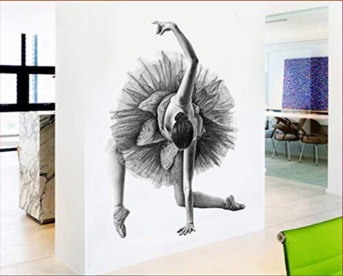 Ballett Mädchen Abstrakt Poster Wandaufkleber Moderne Charakter Skizze Wohnzimmer Tanz Raum Wohnkultur Kunst 60X90 cm