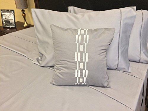 Royal Hotel 's Solid 600-thread-count 3Knopfverschluß, Bettbezug Set, 100Prozent Baumwolle, Satin, 100% Baumwolle, baumwolle, grau, King/California-King (Solid-600-thread)