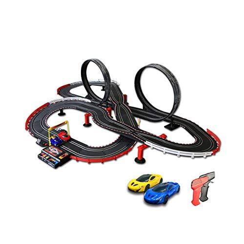 LINGLING-Verfolgen Spur Der Kinder Hochgeschwindigkeitsfernsteuerungs-Doppelspur Zusammengebaute Konkurrierende Handkurbel-Energie-Schienen-Spielzeugauto (größe : 705cm) -