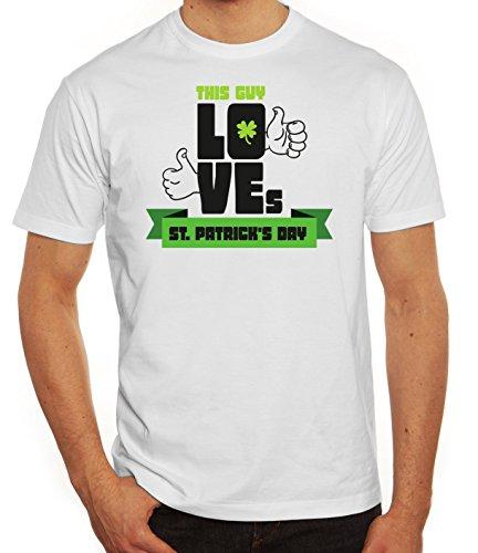 Saint Patrick´s Day St. Patricks Day Herren T-Shirt This Guy Loves St. Patrick's Day Weiß