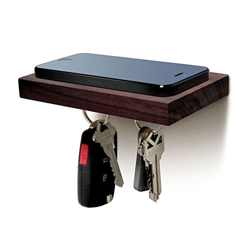 Plank Black Walnut Magnetisches Wandhalterung für Handys und Schlüssel