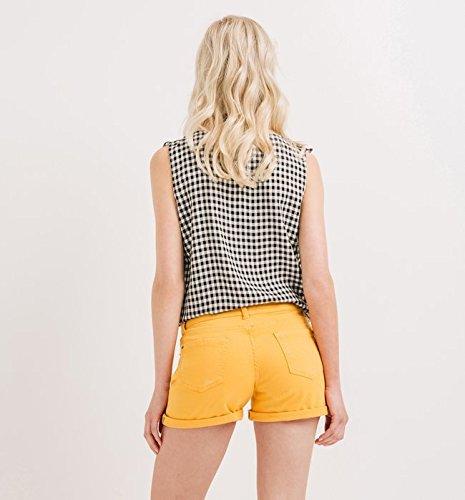 Promod Short en toile Femme Safran Remise Ebay Footaction Avec ...