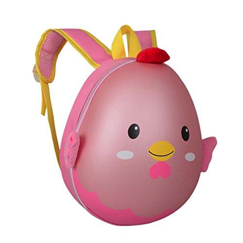 Bambini zaino,Jamicy ragazze ragazzi carino animale cartoon pattern zaino scuola borsa (Giallo) Rosa
