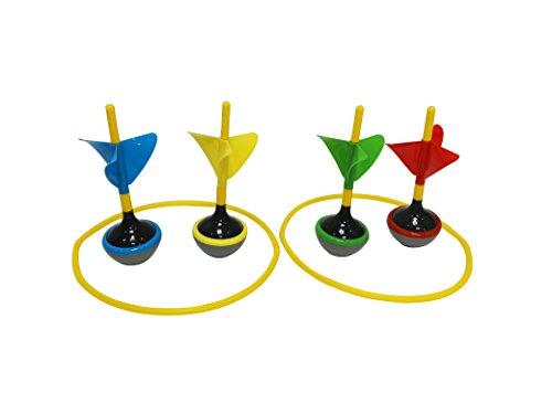 Funmate 4PK Lawn Dart Game Set,Garden Outdoor Family Fun Dart Toss Games