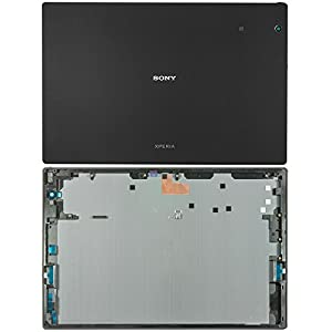 Original Sony Akkudeckel black / schwarz für Sony Xperia Z4 TABLET SPG771 (Akkufachdeckel, Batterieabdeckung, Rückseite, Back-Cover) - 1294-9970