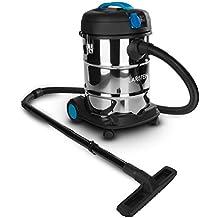 Klarstein Reinraum Prima aspiratore industriale secco/umido aspirapolvere aspira liquidi (1200 Watt, 25 litri, presa integrata da 1000