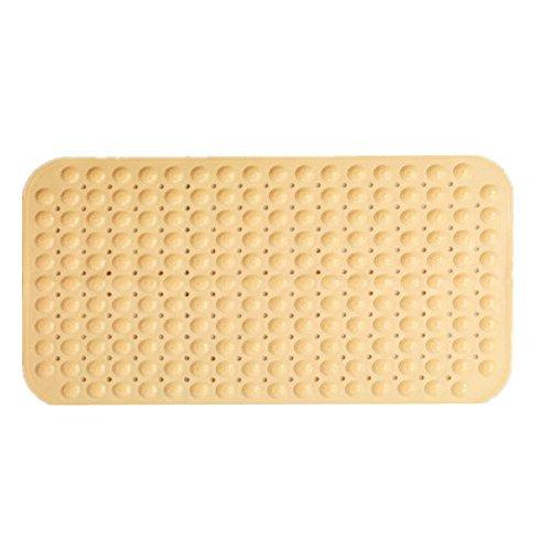 TINE HOME CURTAINS Badematten Rutschfeste Kissen Duschmatten Matten mit Saugnäpfen Badmatten Wasserdichte Matten, Yellow 71 * 35.5cm