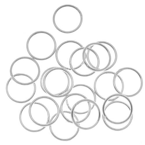 Beadaholique 20 pièces Anneaux fermé, 10 mm, Calibre 18, Argent