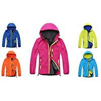 Girls Boys Water Proof Rain Jackets Wind Lined Jackets Hooded Warm Age
