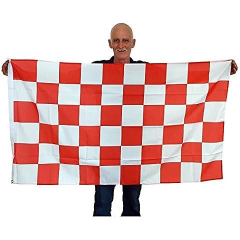 Liverpool Retro Classic Rosso e Bianco Bandiera a scacchi grande