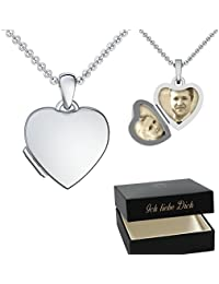 Anhänger silbern Herzen Herz Liebe zum Aufklappen für Perle Käfig Charm