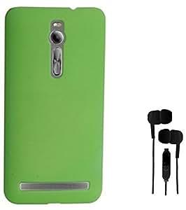 Chevron Back Cover Case for Asus Zenfone 2 Deluxe ZE551ML With Chevron 3.5mm Stereo Earphones (Charm Green)