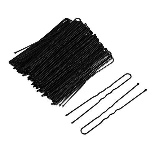 sourcingmap Métal Femme Épingle À Cheveux Barrette En Forme U Clip Broche Simple 100 Pcs Noir